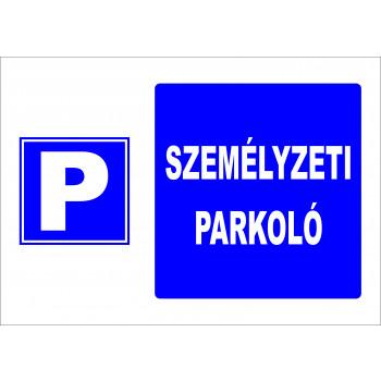 Személyzeti parkoló