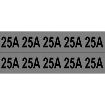25A 10 db/ív