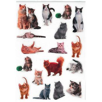 Gyerekmatricák A4 íven - Cicák, macskák