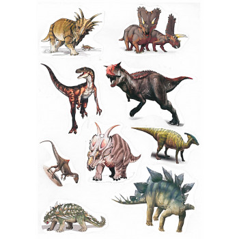 Gyerekmatricák A4 íven - Dinoszauruszok