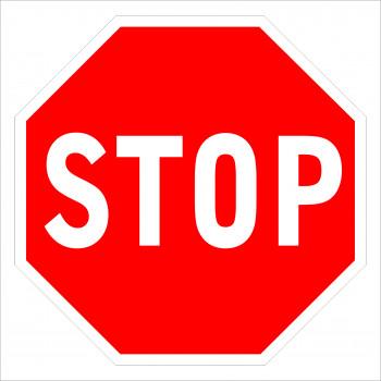 STOP tábla matrica